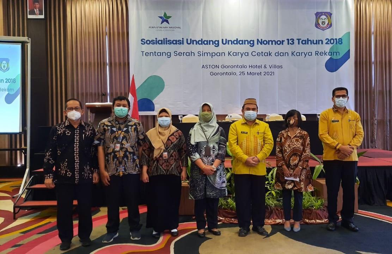 Perpusnas Lakukan Penyuluhan Hukum dan Sosialisasi Jaringan Dokumentasi dan Informasi Hukum (JDIH) - Gorontalo 25 Maret 2021
